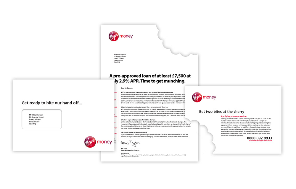 Finance sector direct mail