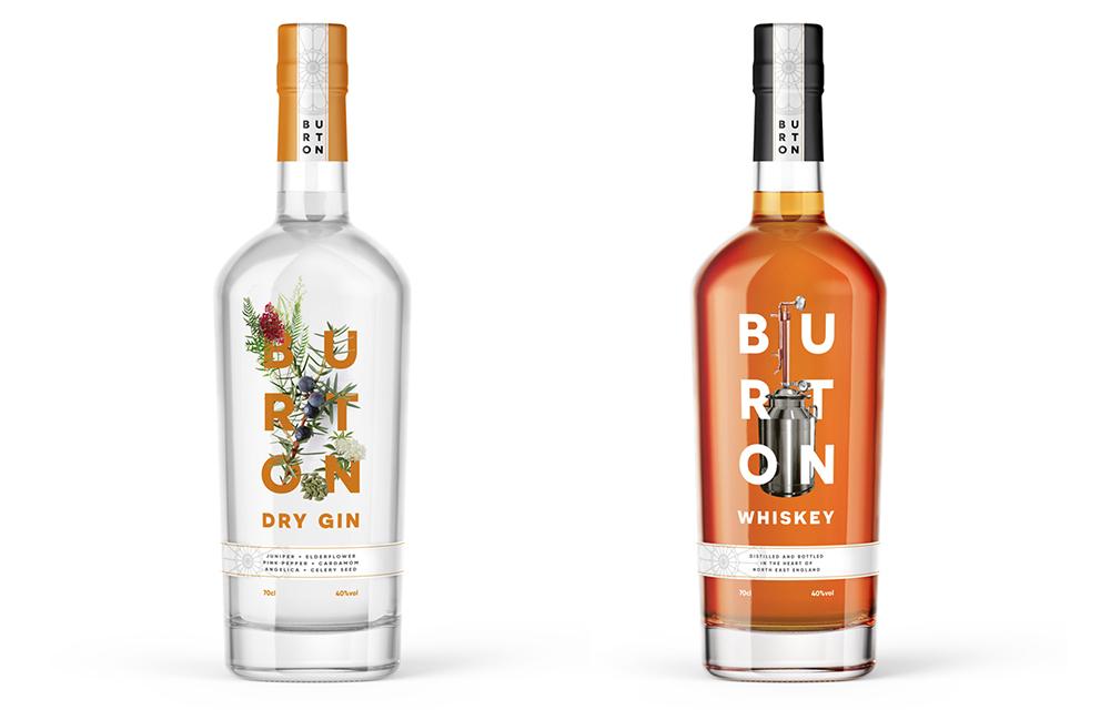 Gin & whiskey branding